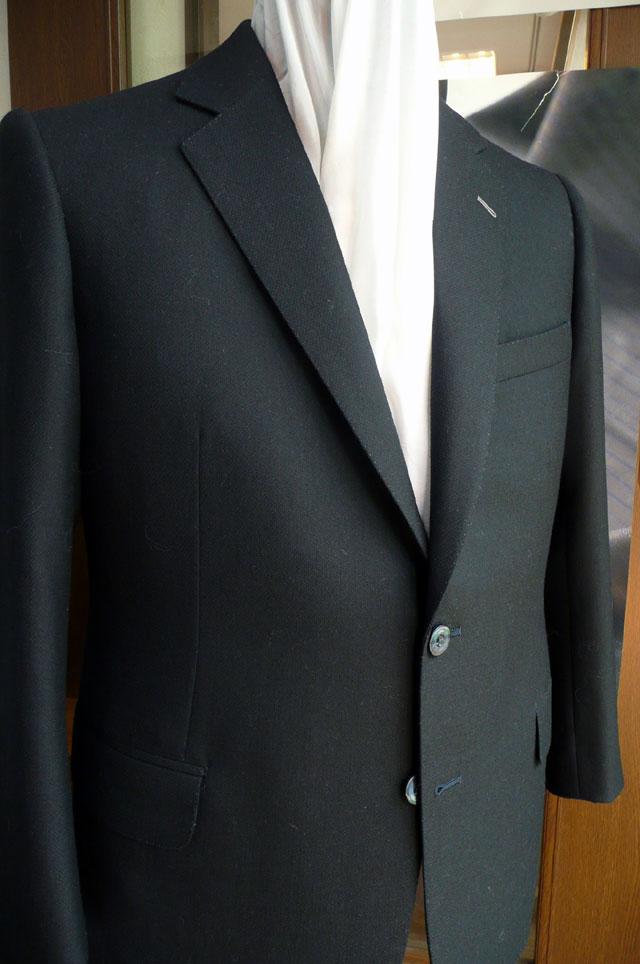 和光市長の濃紺スーツ 完成 御幸毛織 - 熟練オーダースーツ職人ブログ