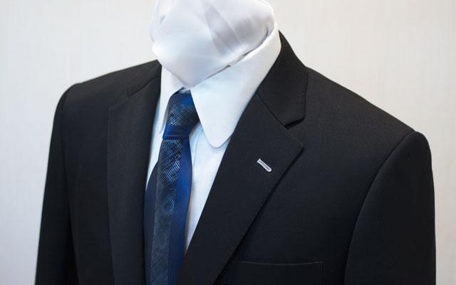 御幸毛織 オーダースーツ ブラック